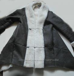 Меховое пальто -дубленка из искусственного меха