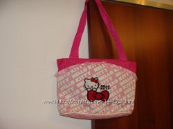 сумка Hello Kitty оригинал Sanrio текстиль идеал с держателем для игрушки