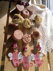 Декоративные ароматические подвесы. Роза винтаж.