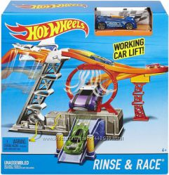 Трек Гонка скорости Хот Вилс Hot Wheels Rinse Race