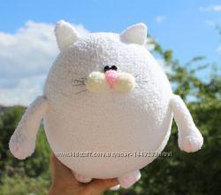 М&acuteяка іграшка котик білий мягкая игрушка кот белый кошка вязаный в&acuteязаний