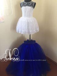 Нарядное детское платье для девочки праздничное яркое выпускной пышное