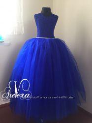 Нарядное детское платье для девочки праздничное выпускной пышное модное