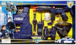 Полицейский набор, полиция, подарок для мальчика бронежилет, автомат