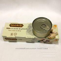 Іспанський тунець в олії Sagres, 240 грам