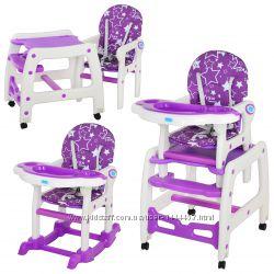 Детский стульчик трансформер для кормления M 1563 в ассортименте