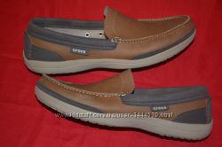 фирменные мужские  туфли  мокасины Crocs