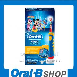 Детская эл. зубная щетка Oral-B - D10. 513 Stages Power Микки 1 насадка