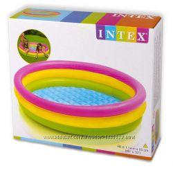 Детский бассейн INTEX радуга 114X25 см