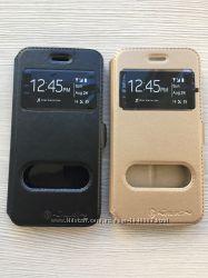 Золотой и черный чехол книжечкой nilkin для iphone 7 7S