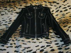 Классный коттоновый пиджак, куртка на леди, 44рр