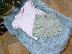 Красивый комплект, костюм шорты и рубашка