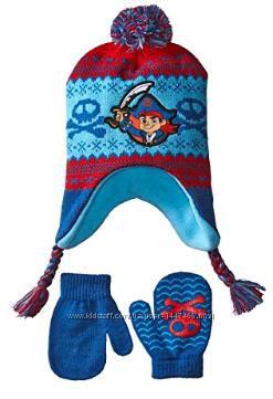 Disney набор Капитан Джек шапка и варежки для мальчиков 1-2 года