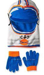 Наборы двухсторонняя балаклава шлем и перчатки в ассортименте США 1-3 года