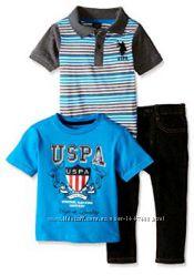 U. S. Polo Assn. 3 в 1 джинсы и 2 футболки США 4 и 5 лет