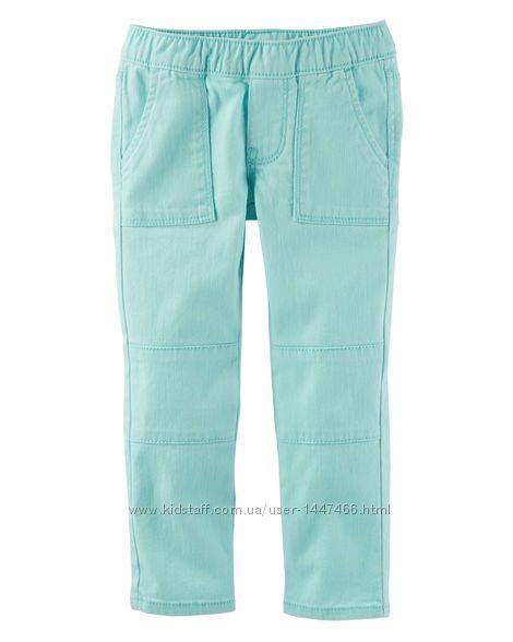 Джегинсы джинсы коралл  голубой OshKosh ОшКош 4 года