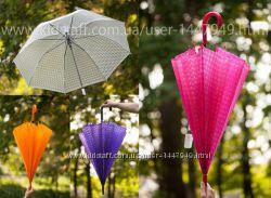 Зонт полупрозрачный розовый