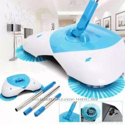 Механическая щётка чудо веник пылесос Spin Broom для уборки пола беспроводн