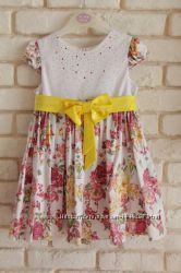 Платье нарядное в цветы на 2-3 года