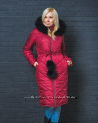 Пальто зимнее с капюшоном разм. 42-54