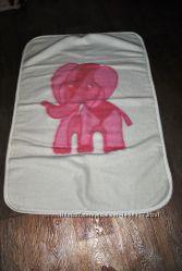 Одеяло детское розовый слоник овчина натуральная теплое