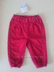 Штаны для девочки нарядные джинсы брюки хлопок вельвет 74 см C&A Германия
