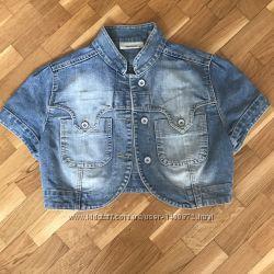 Укороченный джинсовый жакет Mango размер S в идеальном состоянии