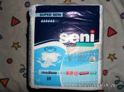 подгузники для взрослых Seni новая пачка 10шт для взрослых  2 на 6 капель.