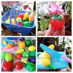 Игрушечный набор фруктов и овощей в наличии