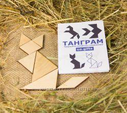 Розвивальна головоломка пазл мозаїка сортер з дерева екоіграшка Танграм