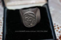 Мужская серебряная печатка