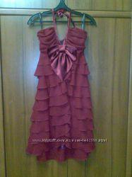 ALICE FASHION оригинал брендовое шифоновое платье атласный бант