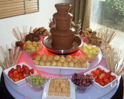 Шоколадный фонтан для праздничного стола Chocolate Fondue Fountain, шоколад