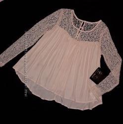 57f2452341b Роскошная кремовая блуза с ажурным кружевом AMISU