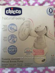 Молокоотсос ручной с бутылочкой Chicco Natural Feeling