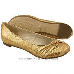Blink золотые балетки Польша