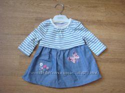 Bleuzoo новое платье на новорожденную малышку Т до 56 см.