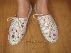 Steve Madden мокасины туфли балетки цветочный принт размер 7, 5