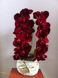 Искуственная орхидея , композиции из искуственных орхидей