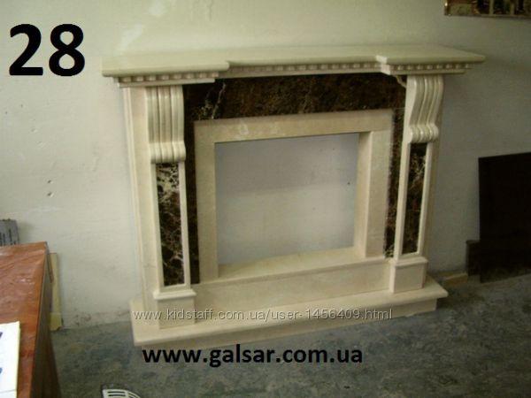 Фальш-камин из мрамора