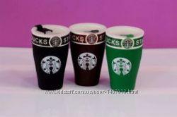 Кружка керамическая Starbucks с крышкой, 500 мл.