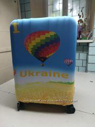 чехол на чемодан принт Украина