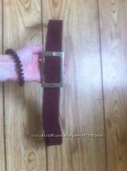Замшевый ремень tom tailor цвет марсала