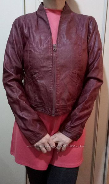 Куртка кожзам размер наш 48 женская новая