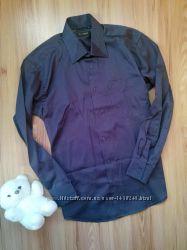 Стильная рубашка в мелкую полосочку.