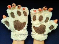 Плюшевые перчатки Медвежья лапа