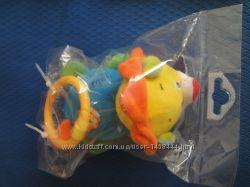 игрушка мягкая погремушка на растяжке и вибрации