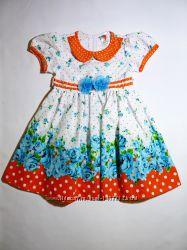 Новые нарядные платья, хлопок . Размеры 104-128