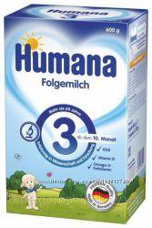 Сухая молочная смесь Humana 3 с пребиотиками галактоолигосахаридами ГОС,