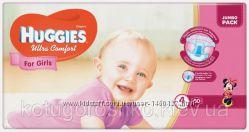 Подгузники Huggies Ultra Comfort для девочек 4 7-16 кг Jumbo Pack, 50 шт.